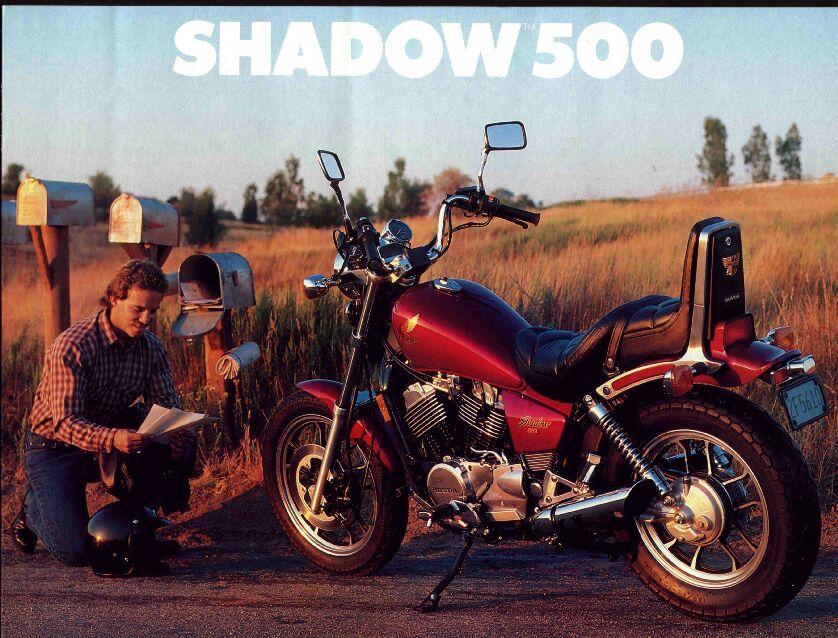Honda VT500C/brochures - CycleChaos