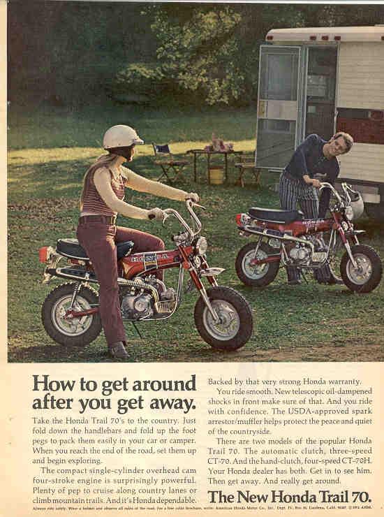 Honda Ct70  Ads