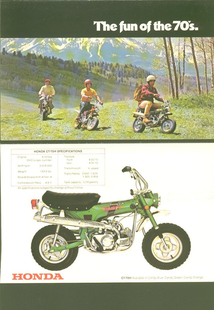 Ct Brochure on 1980 Honda Ct70