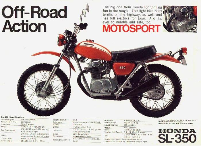 1968 bsa wiring diagram honda sl350 brochures cyclechaos  honda sl350 brochures cyclechaos