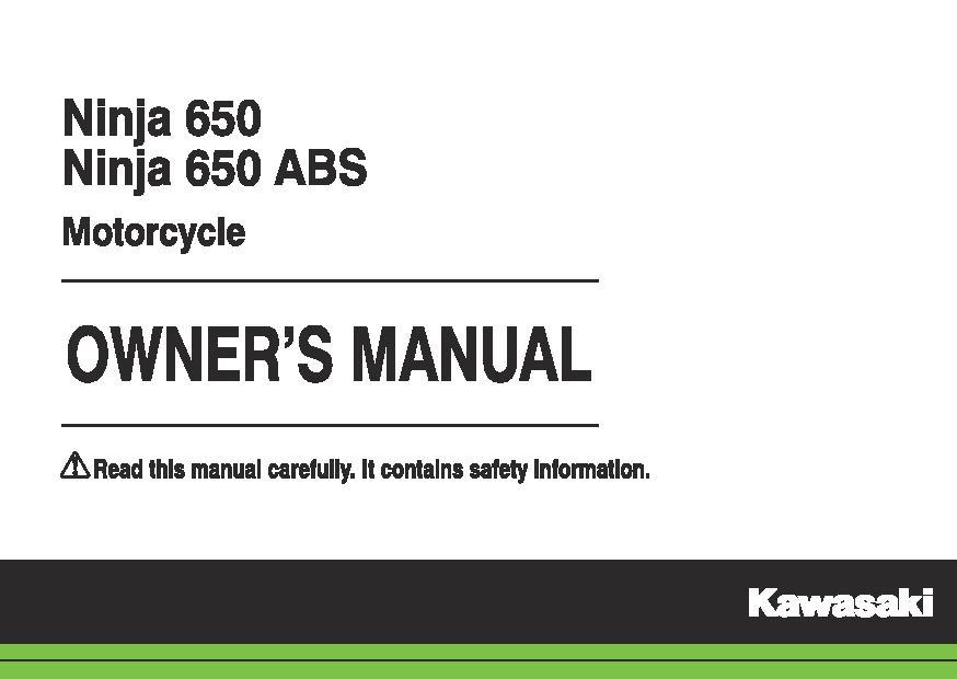 File:2015 Kawasaki Ninja 650 ABS owners manual.pdf - CycleChaos