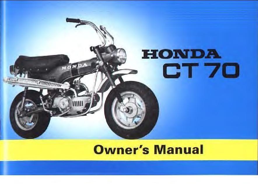 File:Honda CT70 Trail 70 Owners Manual.pdf - CycleChaos