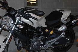 White Ducati Monster 696 front closeup.jpg
