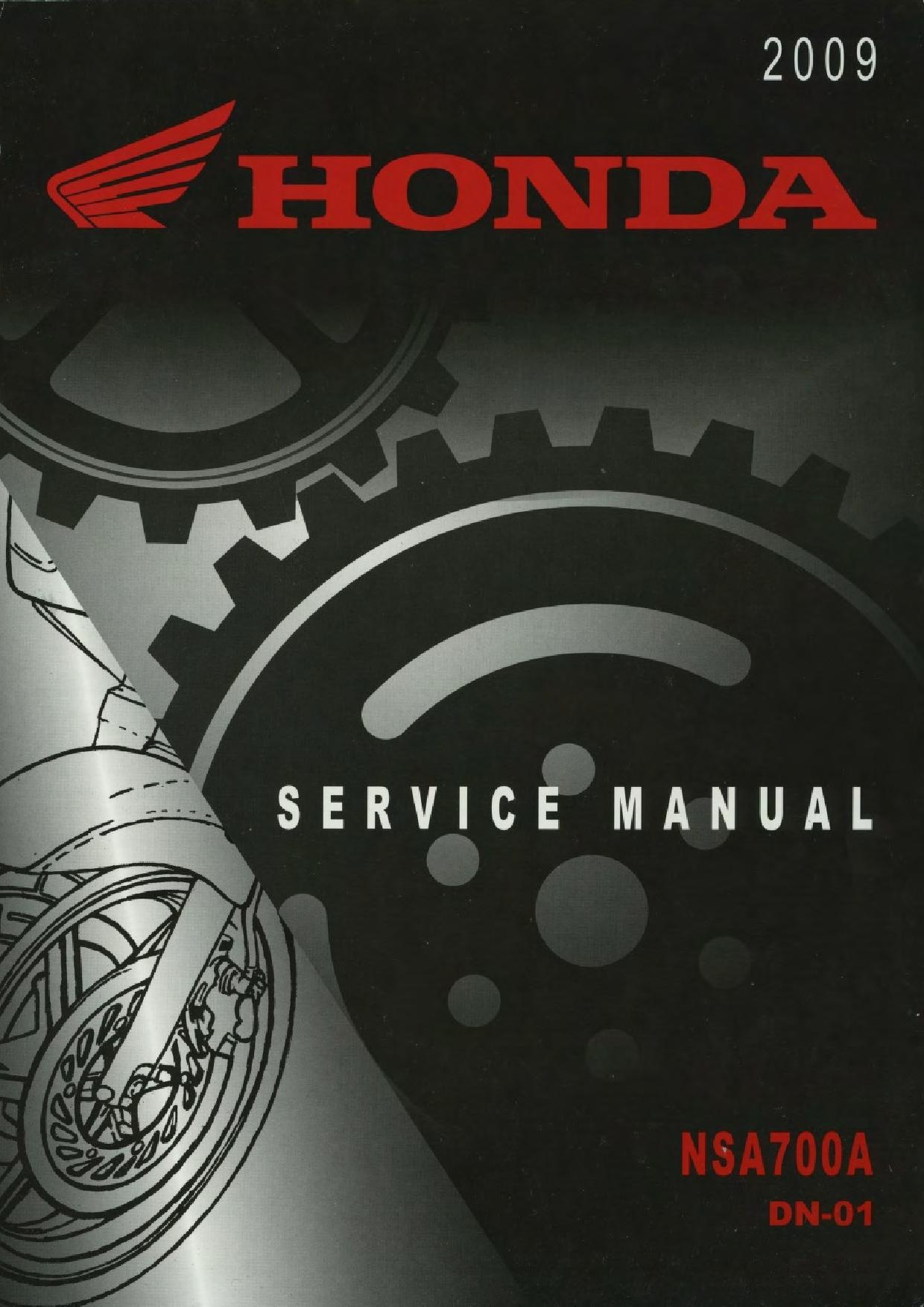File:Honda NSA700A DN-01 2009 Service Manual.pdf - CycleChaos