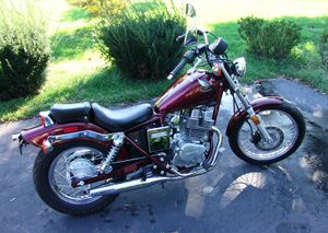 1987 Honda Rebel 250 In Candy Wineberry Red