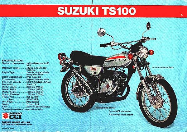 Suzuki TS100/brochures - CycleChaos Yamaha Motorcycles