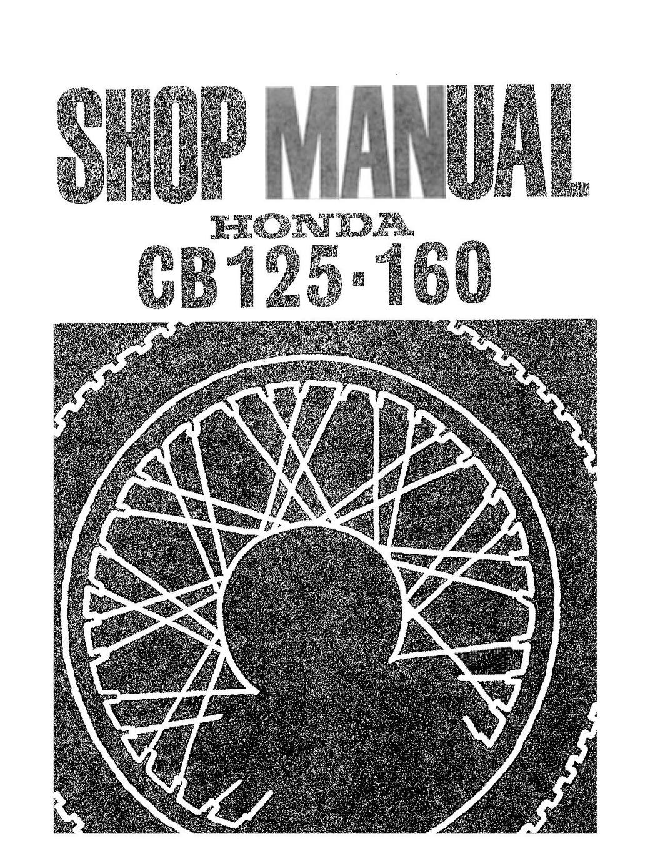 File:Honda CB125 Twin CB160 Workshop Service Repair Manual 1966-69 ...