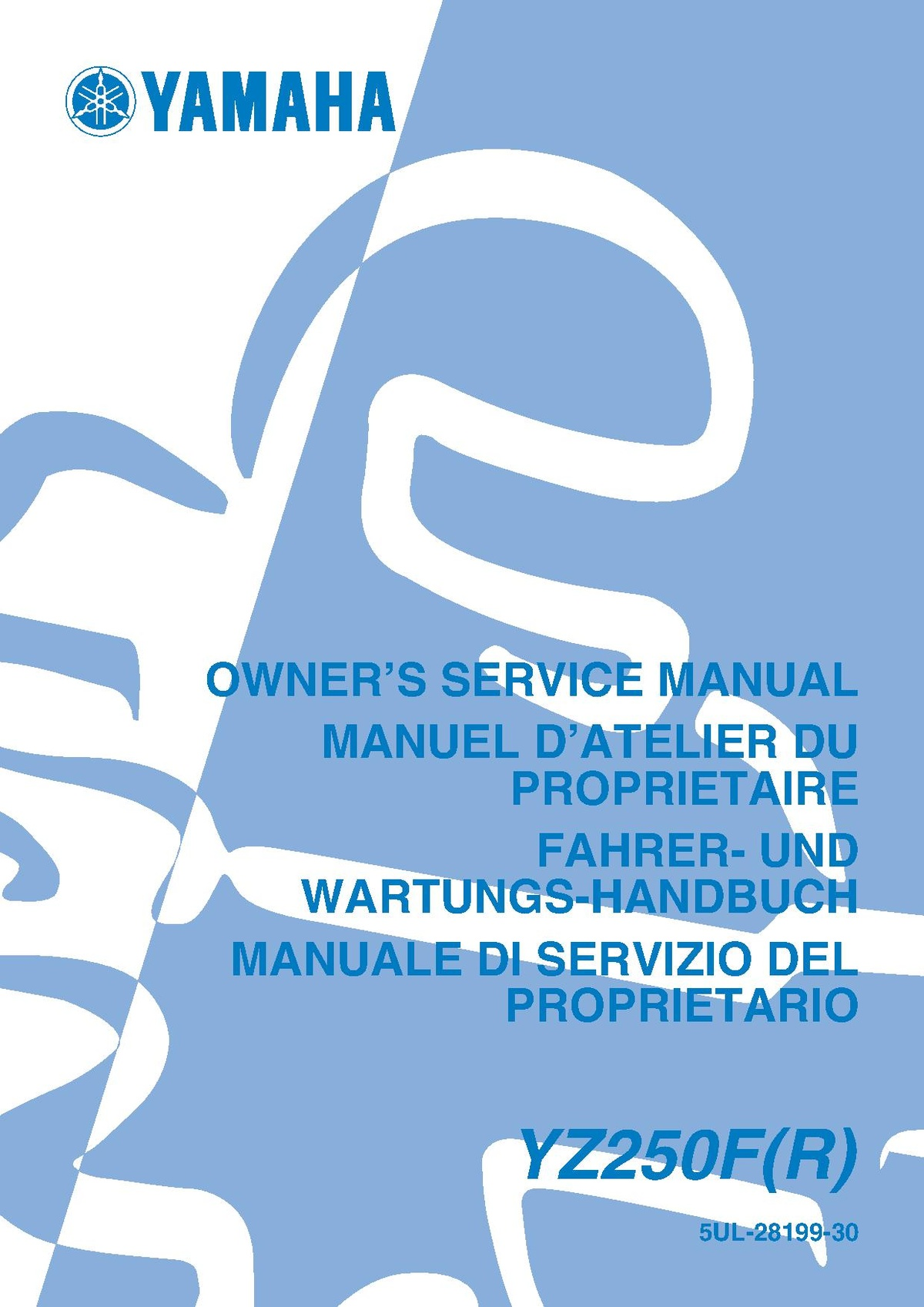 File:2003 Yamaha YZ250F R Owners Service Manual.pdf - CycleChaos