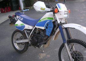 1986 kawasaki klr250 in white/blue