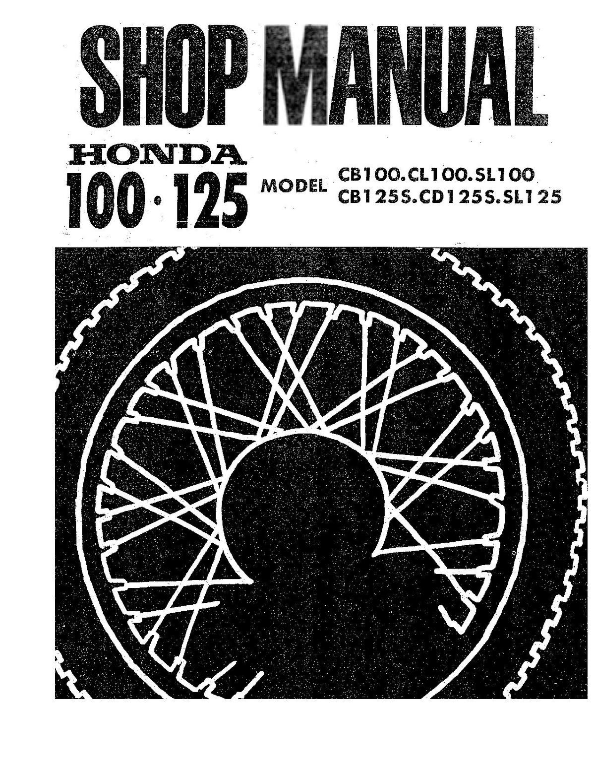 File:Honda CB100 CL100 SL100 Service Maintenance Repair Manual ...