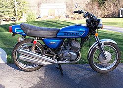 1975 Kawasaki S1B in Blue