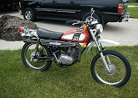 1974 Yamaha DT125 in Red