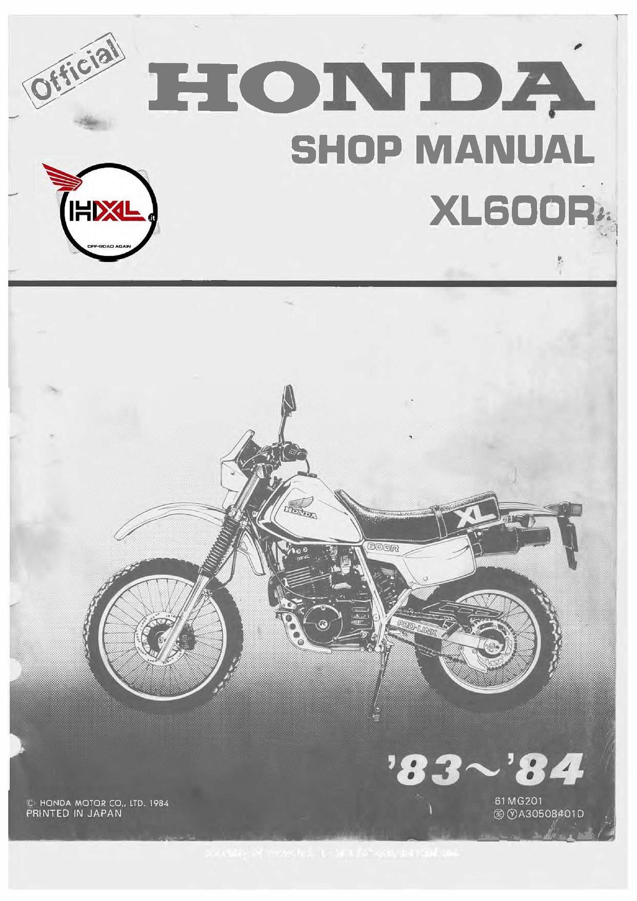 File:Honda XL600R 1983 1984 Service Manual.pdf - CycleChaos