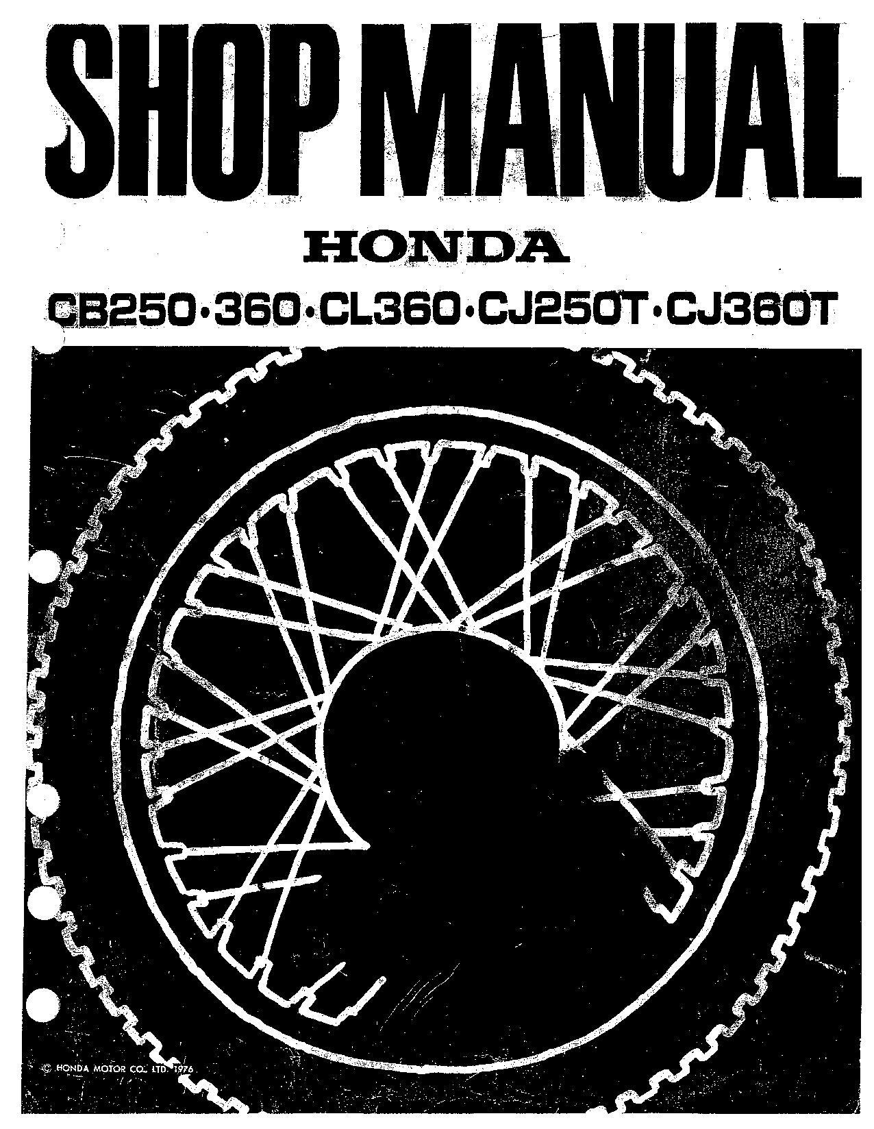 File Honda Cb250 Cb360 Cl360 Cj250t Cj360t Factory Service Manual Pdf Cyclechaos