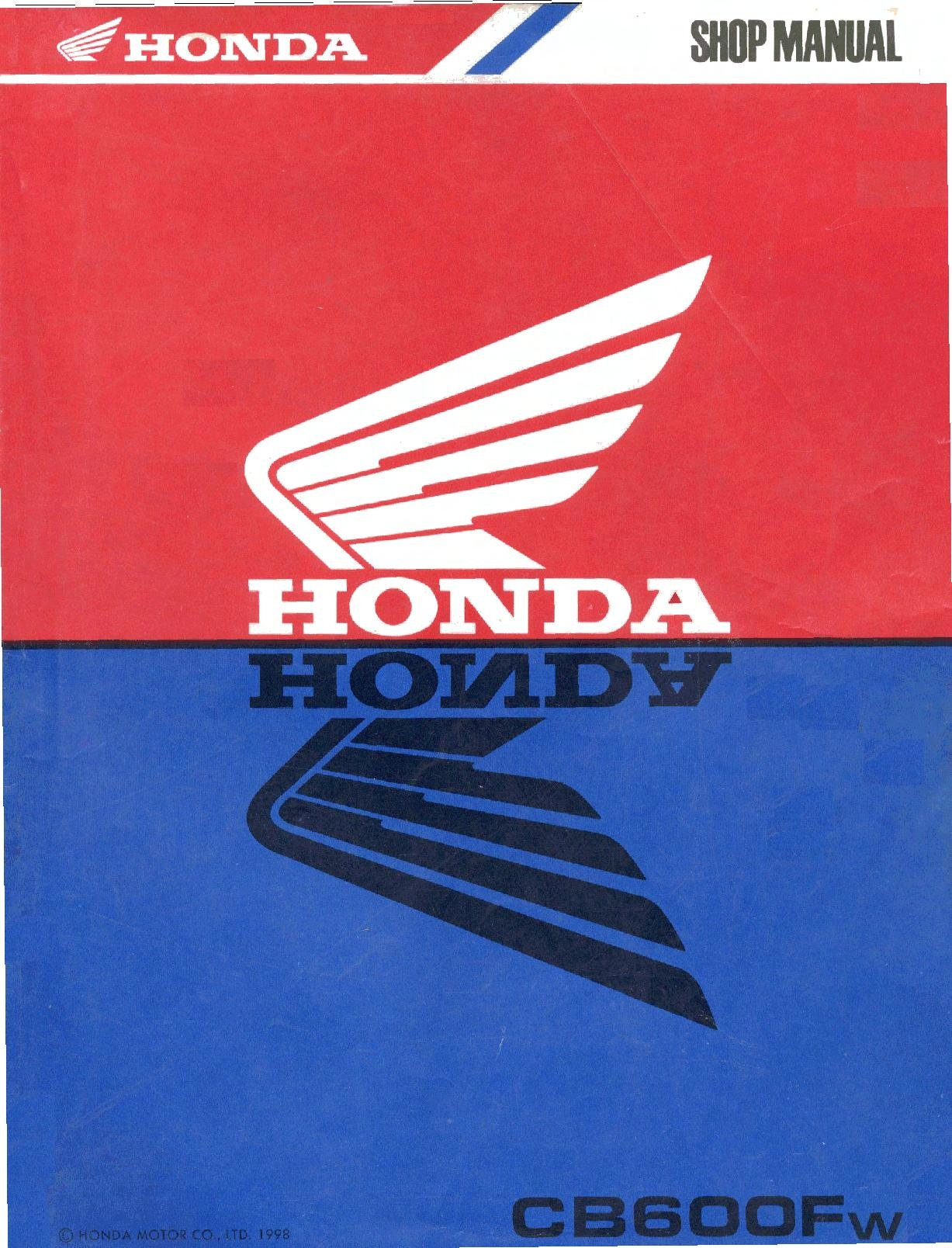 File:Honda CB600F 1998 Service Manual.pdf