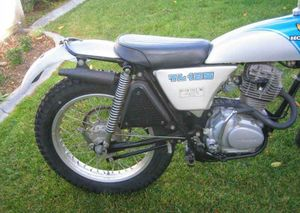 1974 honda tl125 in silver/blue