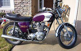 1972 Triumph T150 in White/Purple