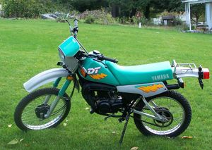 1990 Yamaha DT50 in Turquoise/Gray