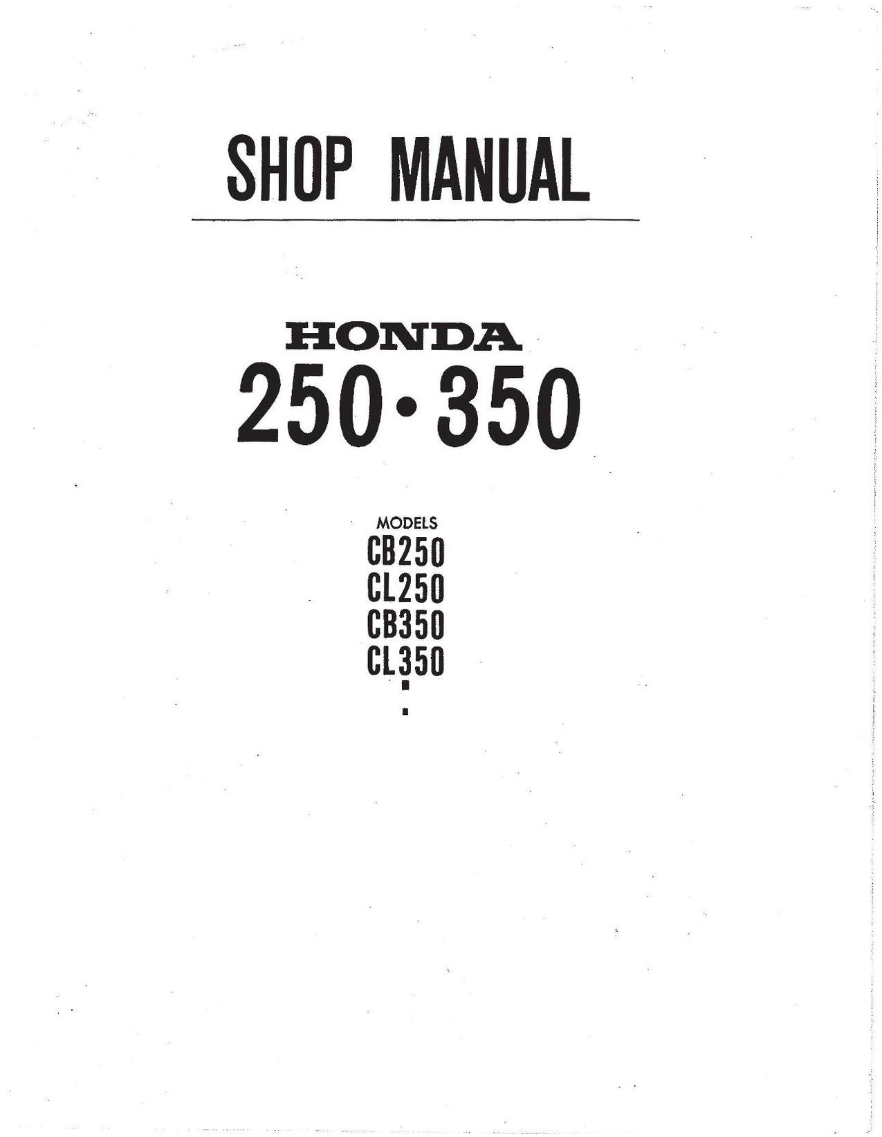 File:Honda CB250 CL350 SL350 CB350 Factory Service Manual.pdf ...