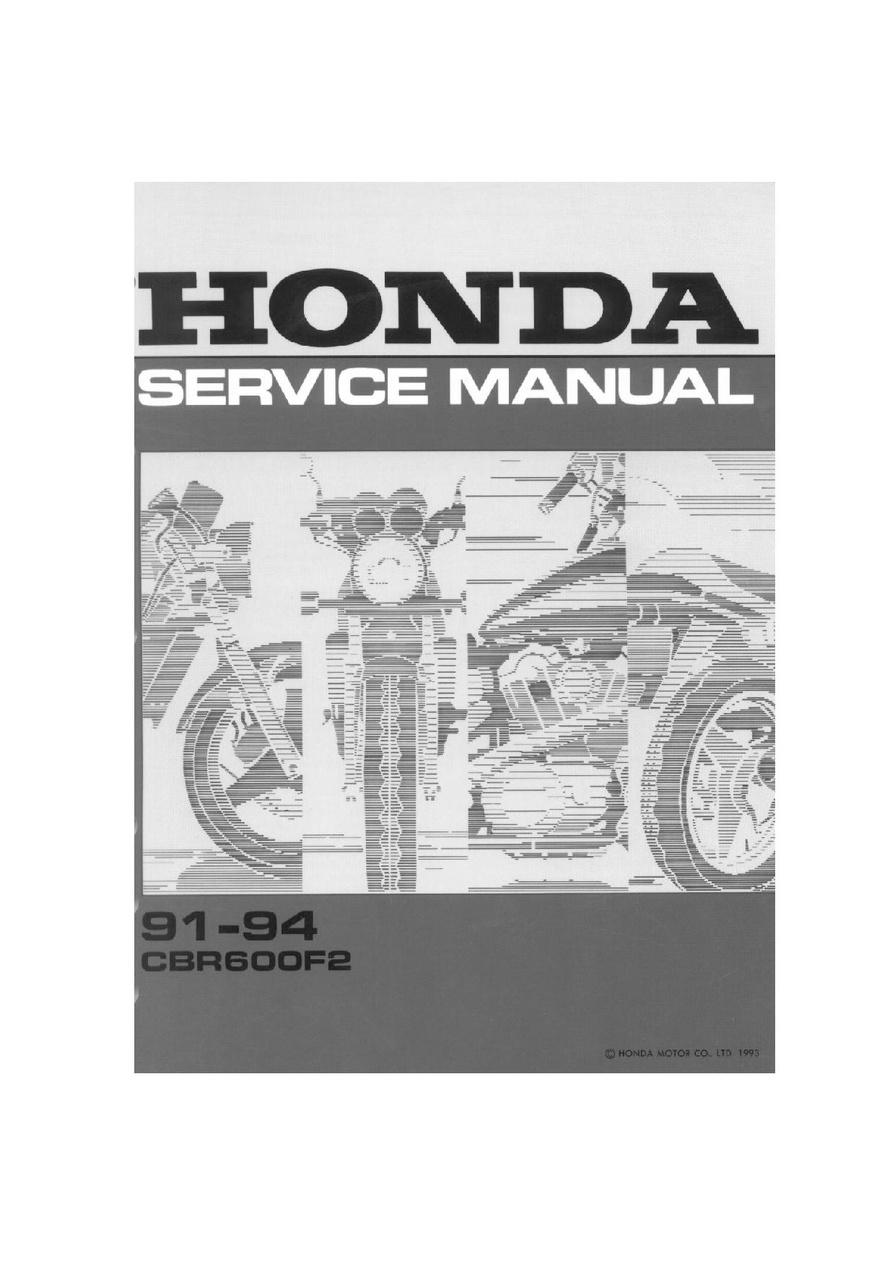 File:Honda CBR600F2 91-94 Service Manual.pdf - CycleChaos