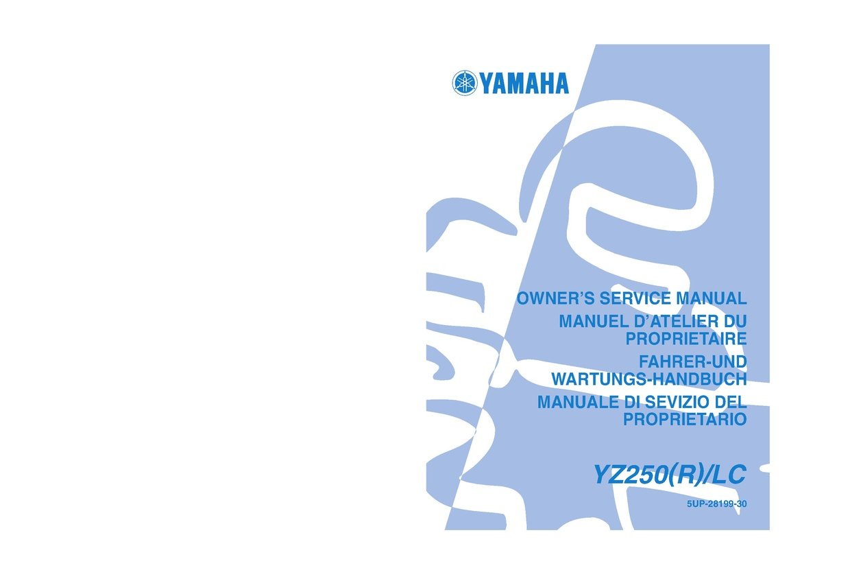 File:2003 Yamaha YZ250 R LC Owners Service Manual.pdf - CycleChaos