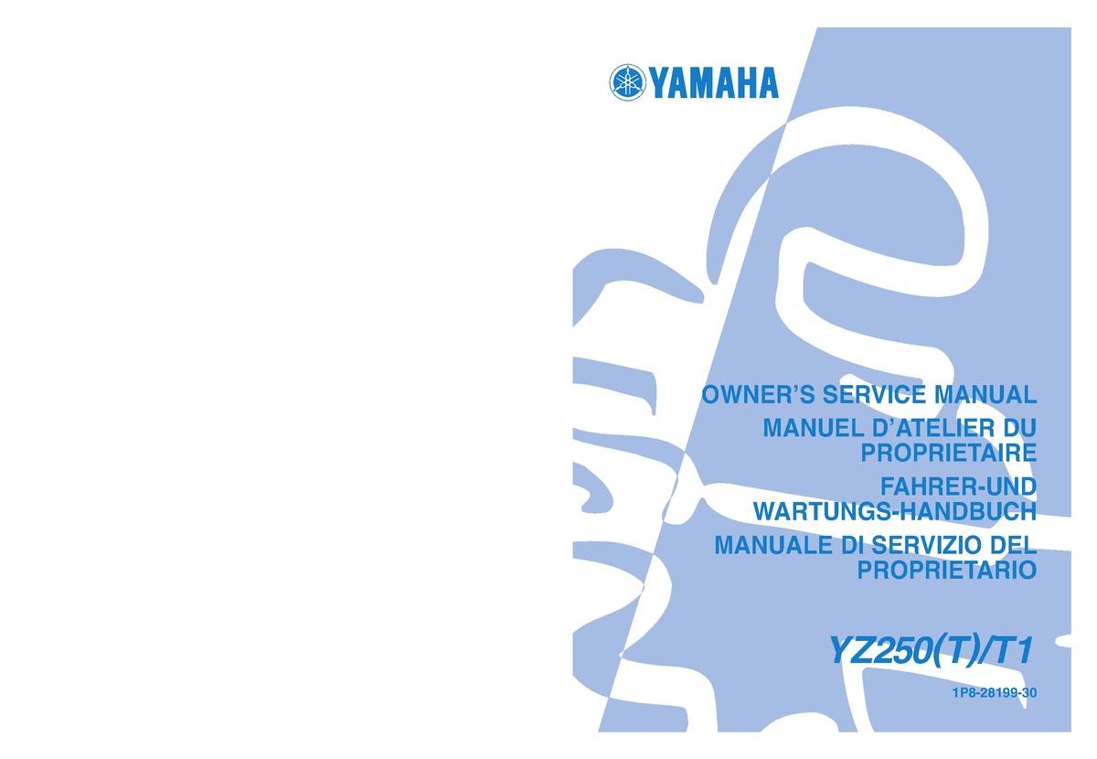 File:2005 Yamaha YZ250 Owners Service Manual.pdf - CycleChaos