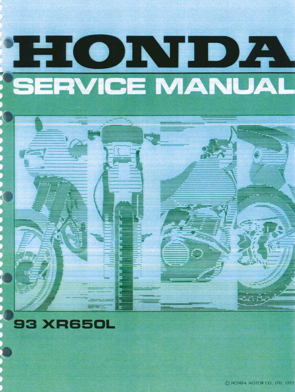 File:Honda XR650L Service Manual.pdf - CycleChaos