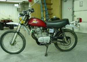 1975 Honda XL100 in Red