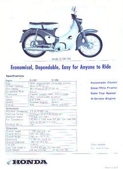 honda c100 super cub: history, specs, pictures - cyclechaos  cyclechaos