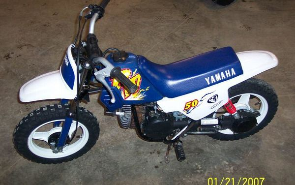 1996 Yamaha PW50 in White/Blue