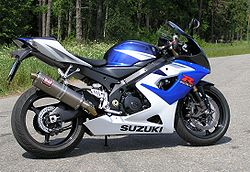 "2005 GSXR 1000 (""K5"") with modified (Yoshimura) exhaust system"